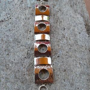 Jewelry - Sterling silver hammered modern BRACELET
